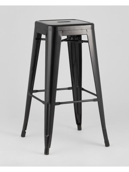 Барный стул черный глянцевый