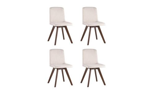 Комплект стульев MARTA мягкая тканевая серая обивка