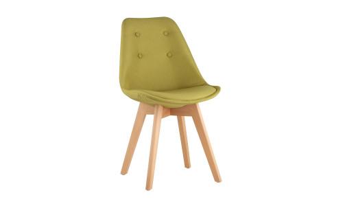 Стул TARIQ зеленый обивка износостойкая ткань деревянные ножки