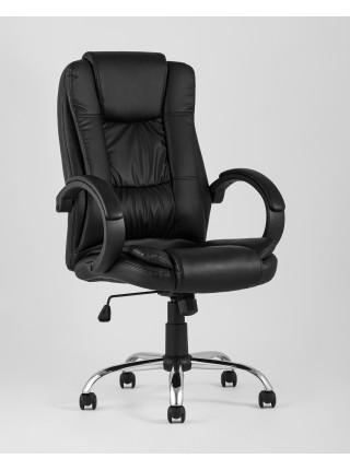 Копмьютерное кресло TopChairs Atlant офисное черное обивка экокожа