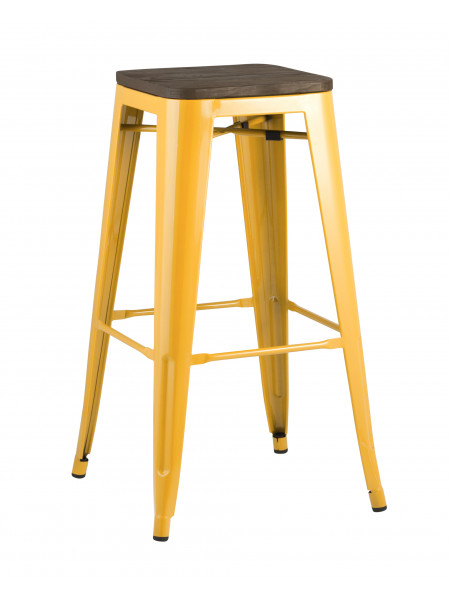 Барный стул Tolix WOOD желтый