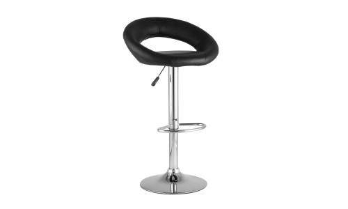Барный стул Купер черный/серебро газлифт