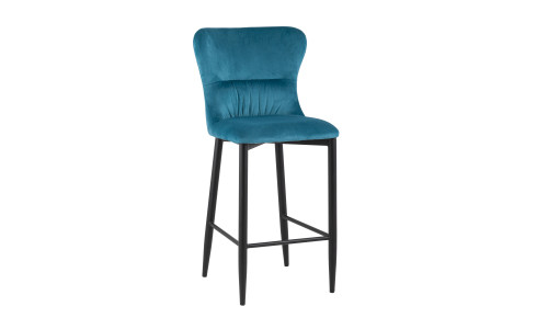 Барный стул Лилиан велюр темно-бирюзовый мягкая обивка