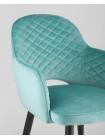 Cтул Венера диамант велюр мятный мебельная ткань велюр