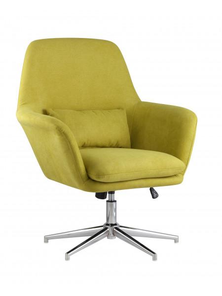 Кресло Рон регулируемое мягкое зеленое обивка ткань