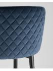 Барный стул Оскар велюр сине-зеленый
