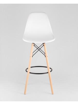 Барный стул DSW барный белый покрытие для устойчивости к ударам