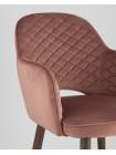 Cтул Венера диамант велюр пыльно-розовый мебельная ткань велюр