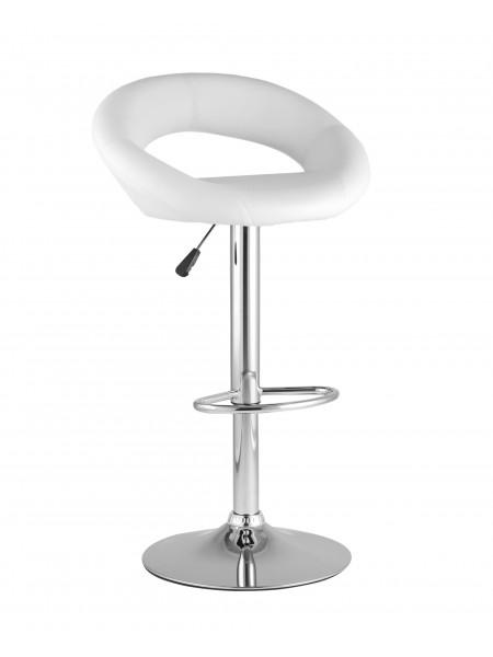 Барный стул Купер белый кожаное сиденье