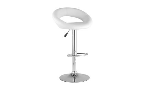 Барный стул Купер белый кожаное сиденье StoolGroup