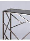 Консоль АРТ ДЕКО 115*30 темный хром стекло smoke нержавеющая сталь