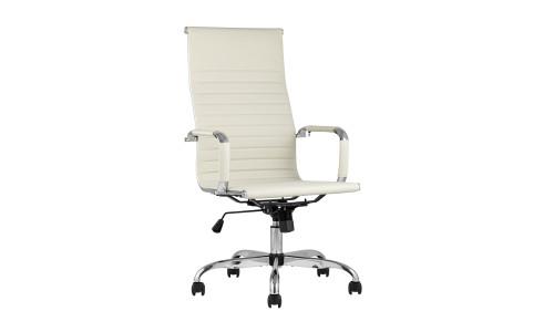 Копмьютерное кресло TopChairs City офисное бежевое обивка экокожа