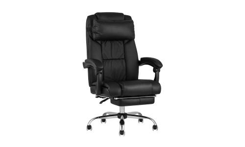 Копмьютерное кресло TopChairs Royal офисное черное в обивке из экокожи