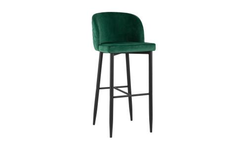 Барный стул Оскар велюр изумрудный