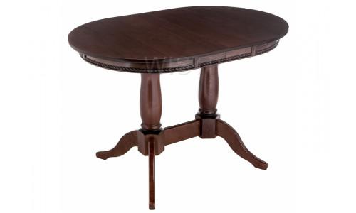 Стол деревянный Кантри 120 орех с коричневой патиной