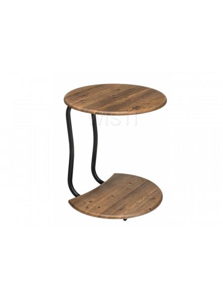 Журнальный стол Андромеда черный матовый / старое дерево