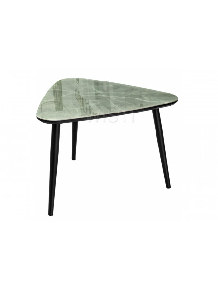 Стол стеклянный Рамси серый мрамор