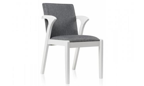 Стул деревянный Artis white / grey
