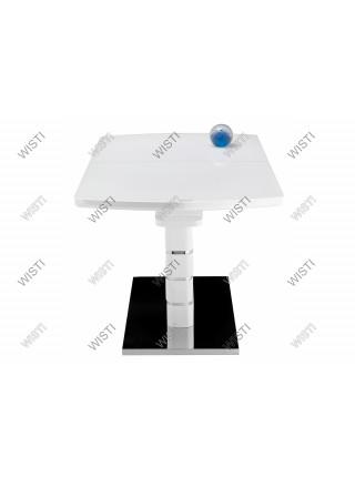 Стол стеклянный Space 160 белый