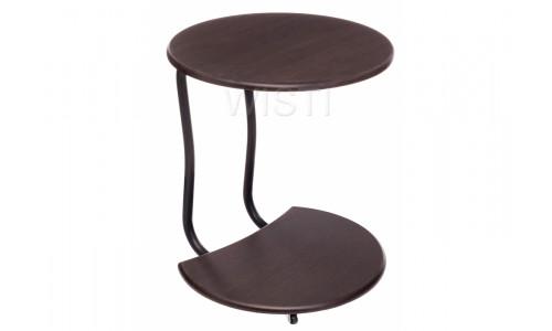 Журнальный стол Андромеда черный матовый / орех