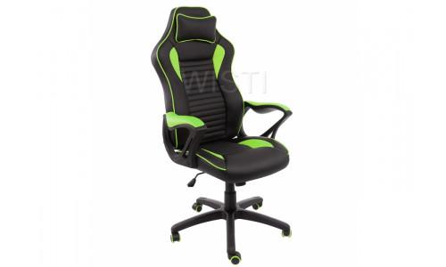 Компьютерное кресло Leon черное / зеленое