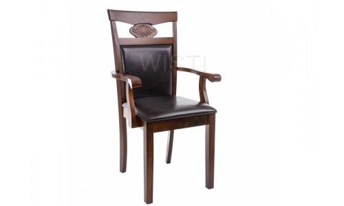 Стул деревянный Кресло Luiza dirty oak / dark brown