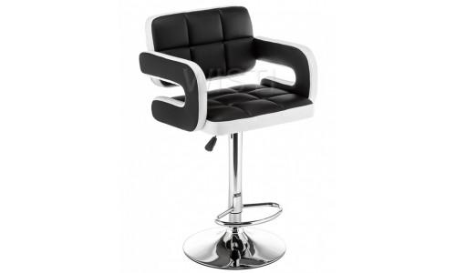 Барный стул Bent черный / белый