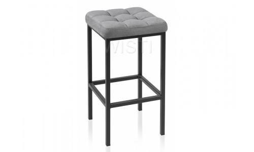 Барный стул Лофт ткань канди грей / черный матовый