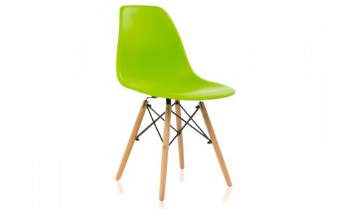 Стул деревянный Eames PC-015 зеленый