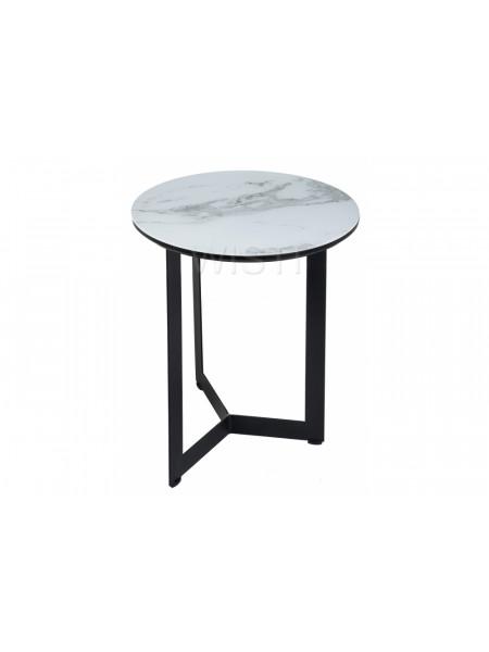 Стол стеклянный Роб D-450 белый мраморр