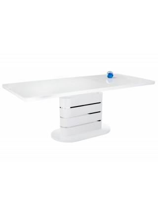 Стол стеклянный Plas 160 super white