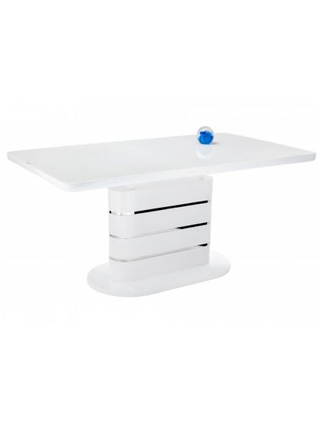 Стол стеклянный Plas 140 super white