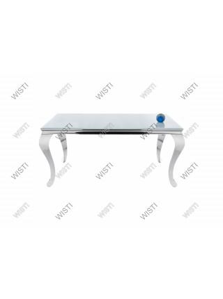 Стол стеклянный Sondal 160 белый