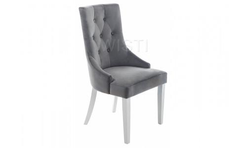 Стул деревянный Elegance white / grey