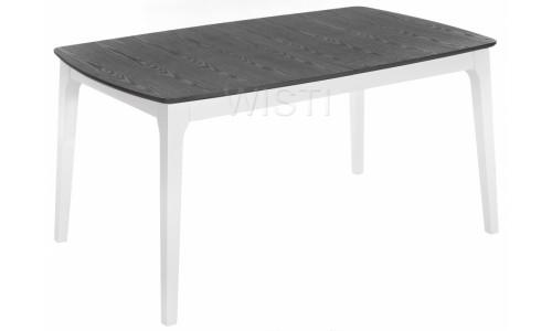 Стол деревянный Enzo серый / белый