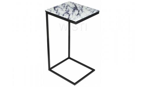 Журнальный стол Геркулес белый мрамор