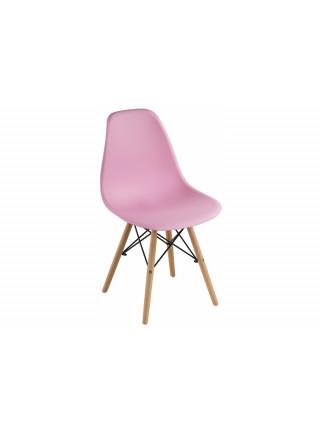 Стул деревянный Eames PC-015 light pink