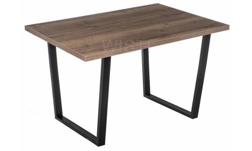 Стол деревянный Эльпатия 110 дуб велингтон / черный матовый